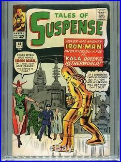1963 Marvel Tales Of Suspense #43 1st Appearance Kala 5th Iron Man Cgc 5.0 Ow-w