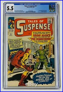 1964 Marvel Tales Of Suspense #51 1st Appearance Scarecrow Cgc 5.5