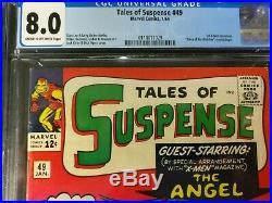 1964 Marvel Tales of Suspense #49 CGC 8.0 1st X-Men Crossover