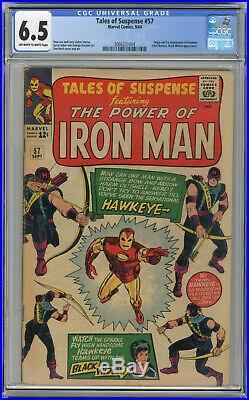 1964 Tales Of Suspense 57 CGC 6.5 1st Hawkeye