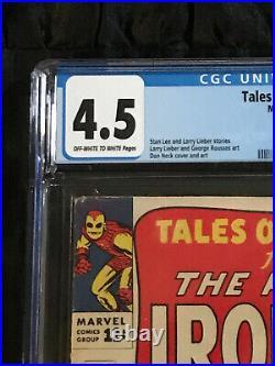 1964 Tales of Suspense #57 CGC 4.5 VG+ 1st Appearance Hawkeye Disney+ Show Soon