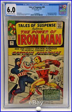 1964 Tales of Suspense #58 CGC 6.0 2nd Appearance of Kraven Stan Lee Jack Kirby