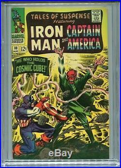 1966 Marvel Tales Of Suspense #80 Red Skull Cosmic Cube Tesseract Cgc 9.8 White