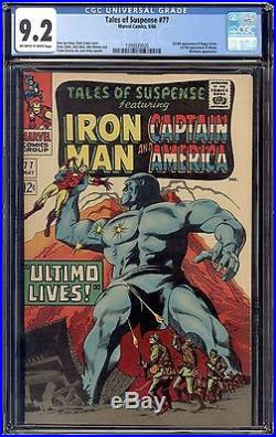 1966 Tales of Suspense #77 CGC 9.2 1st App of Peggy Carter