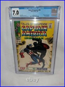 1968 Tales of Suspense #98 CAPTAIN AMERICA VS BLACK PANTHER JACK KIRBYCGC 7.0