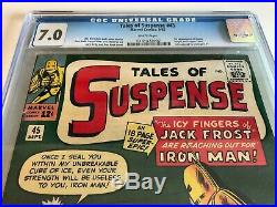 1st HAPPY & PEPPER in TALES OF SUSPENSE #45 comic CGC 7.0