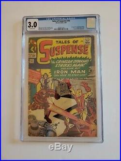 3.0 Cgc Tales Of Suspense Iron Man Black Widow First Appearance Comic Book #52