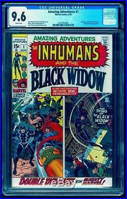 AMAZING ADVENTURES 1 CGC 9.6 1st BLACK WIDOW SOLO SEE TALES OF SUSPENSE 52