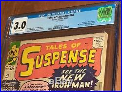 CGC 3.0 Tales of Suspense 48 First Appearance New Iron Man armor and Mister Doll