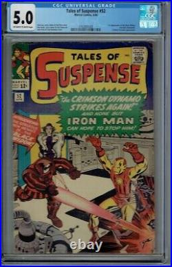 CGC 5.0 TALES OF SUSPENSE #52 1ST APPEARANCE THE BLACK WIDOW OWithWHITE PAGES