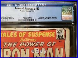 CGC 5.0 Tales of Suspense # 57 1st Appearance of Hawkeye Disney + Show