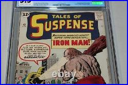 CGC 5.5 OW Tales of Suspense 40 2nd App Iron Man Classic Key Book Grail after 39