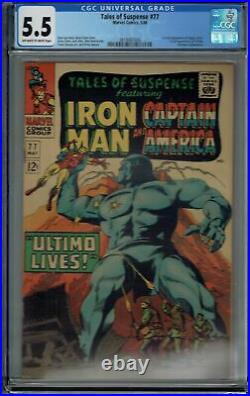 CGC 5.5 TALES OF SUSPENSE #77 1ST APPEARANCE PEGGY CARTER & ULTIMO OWithW PAGES