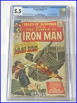 CGC 5.5 Tales of Suspense #53 2nd Appearance of Black Widow. 1964