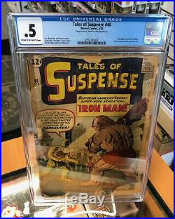 CGC. 5 Tales of Suspense 40 2nd Appearance of Iron Man Marvel Comics