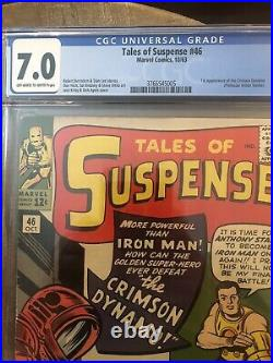 CGC 7.0 TALES OF SUSPENSE #46 1ST APPEARANCE CRIMSON DYNAMO OWithW PAGES