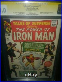 CGC 9.0 Tales of Suspense # 57 1st Hawkeye, Jeremy Renner SS, meets Black Widow