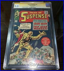 CGC SS 3.5 Tales Of Suspense #44 signed by Stan Lee, early Ironman app, Avengers