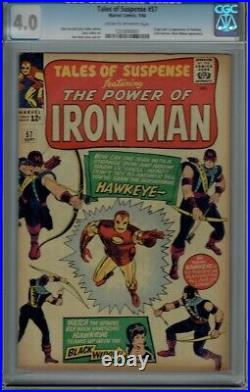 Cgc 4.0 Tales Of Suspense #57 1st Appearance Of Hawkeye Avengers Cr/ow Pages