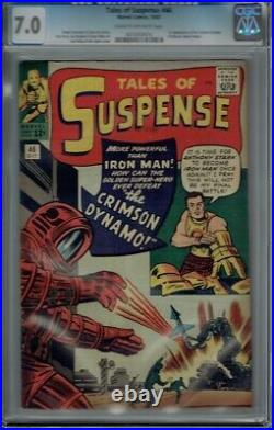 Cgc 7.0 Tales Of Suspense #46 1st Appearance Crimson Dynamo Cr/ow Pages