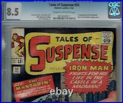 Cgc 8.5 Tales Of Suspense #50 1st Appearance The Mandarin Cr/ow Pgs