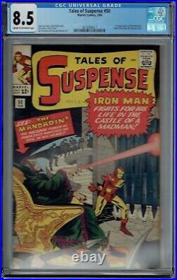Cgc 8.5 Tales Of Suspense #50 1st Appearance The Mandarin Cr/ow Pgs Iron Man 11