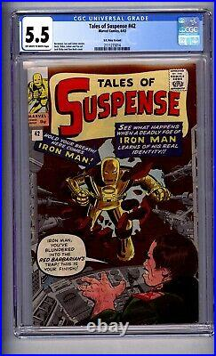 Cgc (marvel) Tales Of Suspense 42 Fn- 5.5 Uk Edition 1963 4th Iron Man