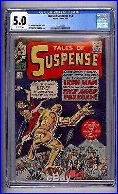 Cgc (marvel) Tales Of Suspense 44 (5th Iron Man) Vg/fn 5.0 1963