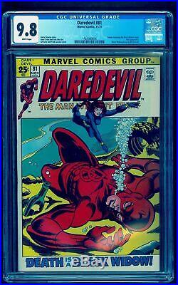 DAREDEVIL 81 CGC 9.8 WHITE 1st BLACK WIDOW STORY SEE OUR TALES OF SUSPENSE 52