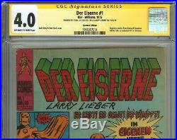 Der Eiserne #1 CGC 4.0 SS 2x STAN LEE Tales of Suspense 39 German Reprints