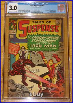 Key Marvel 1964 TALES OF SUSPENSE No. 52 1st Black Widow CGC 3.0 New Case