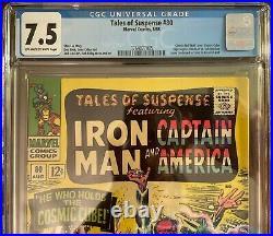 Marvel Comic Tales of Suspense #80 CGC 7.5 Cosmic Cube Iron Man Sub-Mariner 1966