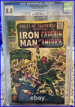Marvel Comic Tales of Suspense #80 CGC 8.5 Red Skull Cover Cosmic Cube Saga 1966