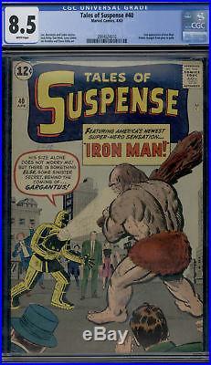 Marvel Comics Tales Of Suspense #40 White Page Shasta Lake Find CGC 8.5 Iron Man