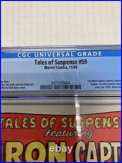 Marvel Comics Tales Of Suspense 59 CGC Graded 7.0