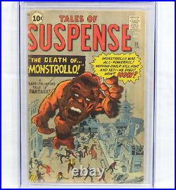 Marvel Comics Tales of Suspense #25 CGC 3.5 Death of Monstrollo by Stan Lee 1962