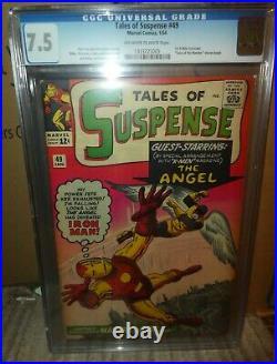 Marvel Comics Tales of Suspense CGC 7.5 49 1st X Men Crossover Angel 1963 Iron