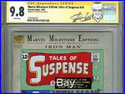 Marvel Milestone Edition Tales of Suspense #39 CGC 9.8 SS STAN LEE 1st IRON MAN