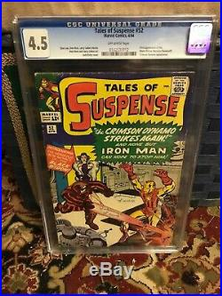 Marvel Tales of Suspense #52 CGC 4.5 1st Appearance Black Widow Not Pressed