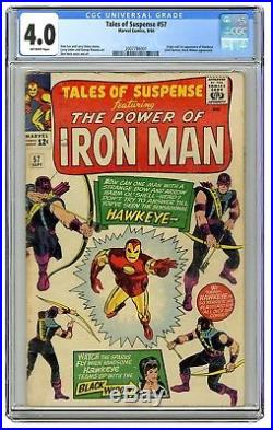 Marvel Tales of Suspense #57 CGC 4.0, First Appearance Of Hawkeye (Sept 1964)
