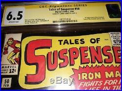 Signed Tales of Suspense #50 CGC SS 6.5 (1964) Larry Lieber 1st Mandarin App