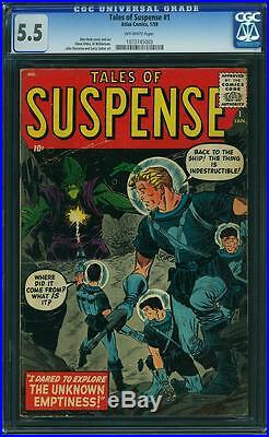 TALES OF SUSPENSE #1 CGC 5.5 FN- 1959, Scarce 1st Issue