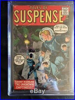 TALES OF SUSPENSE #1 CGC VG/FN 5.0 CM-OW Williamson, Ditko art (1/59)! Rare