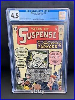 TALES OF SUSPENSE #35 CGC 4.5 (Marvel 1962) Watcher Prototype Story, Stan Lee