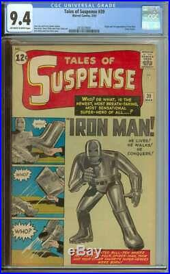 TALES OF SUSPENSE #39 CGC 9.4 OWithWH PAGES