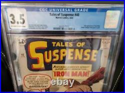 TALES OF SUSPENSE #40 (CGC 3.5) 1963 2nd APPEARANCE of IRON MAN! 1st GOLD ARMOR