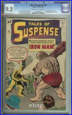 TALES OF SUSPENSE #40 CGC 9.2 OWithWH PAGES // 2ND APPEARANCE OF IRON MAN