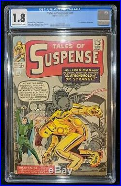 TALES OF SUSPENSE #41 CGC 1.8 3rd Appearance of Iron Man! Kirby Ayers & Ditko