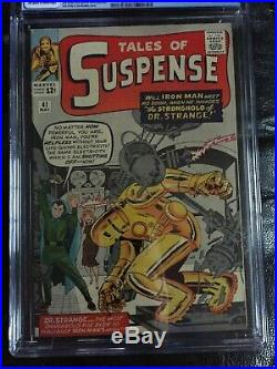 TALES OF SUSPENSE #41 CGC VF 8.0 OW-W 3rd app. Iron Man (5/63)