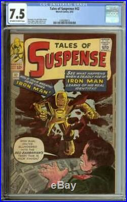 TALES OF SUSPENSE #42 CGC 7.5 OWithWH PAGES
